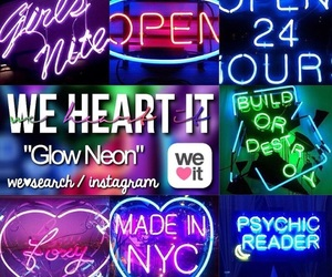 glow, neon, and search image