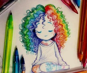 art, beautiful, and curly image
