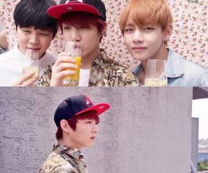 jin, maknae, and jungkook image