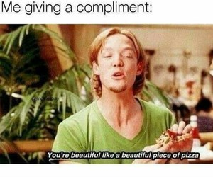 pizza, flirt, and funny image