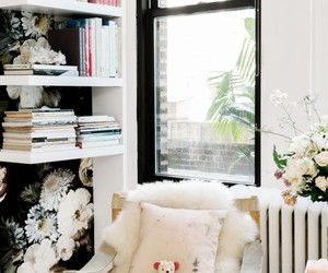 armchair, faux fur, and home decor image