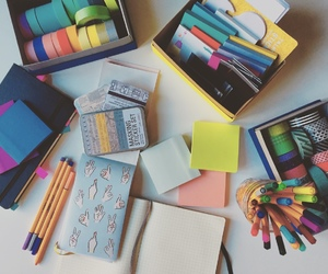 notes, school, and stationary image