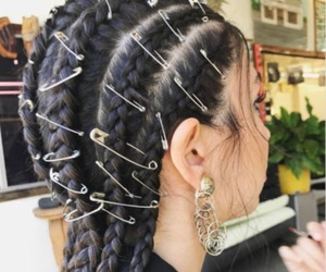 braids, brown, and hair image