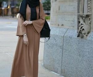 bag, hijab, and outfit image