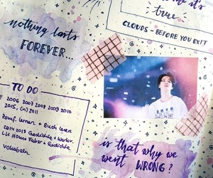 aesthetic, notes, and purple image