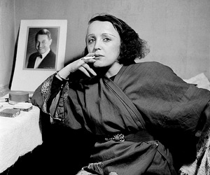 edith piaf, black and white, and people image