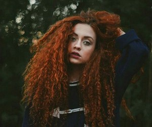 curls, curly hair, and ginger image