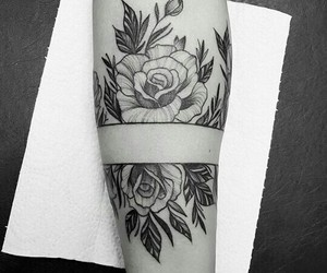 arm, design, and roses image