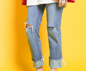 asian fashion, fashion, and women's jeans image