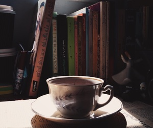 classic, coffee, and reading image