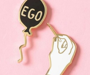 pink, pins, and ego image