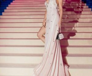selena gomez, dress, and met gala image