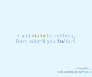 blue, hamilton, and Lyrics image