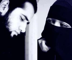 islam, couple, and niqab image