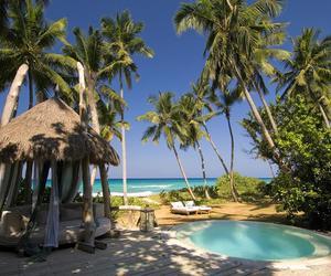 ocean, seychelles, and pool image