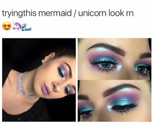 blue, highlight, and make up image
