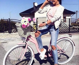 bicicle, glamour, and summer image
