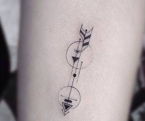 tattoo, arrow, and black image