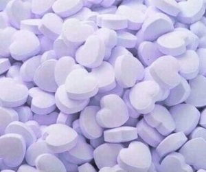 blue, heart, and candy image