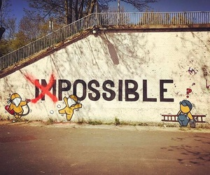 artist, graffiti, and impossible image