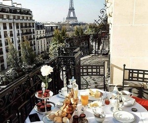 breakfast, morning, and paris image