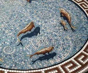 fish, art, and mosaic image