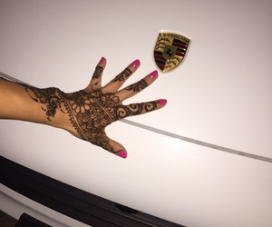 arabic, porsche, and natural nails image
