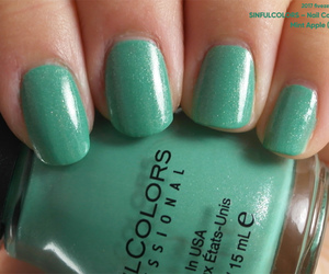 green, mint, and nail polish image