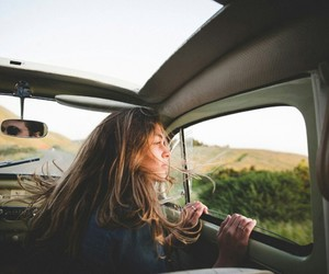 travel, car, and girl image
