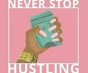 hustle and money image