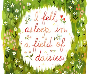 daisy, quote, and flowers image