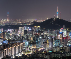 city, seoul, and south korea image