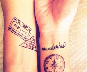 tattoo, travel, and wanderlust image