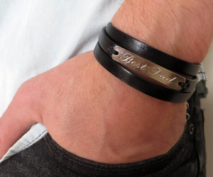 anniversary gift, engraved bracelet, and men gift image