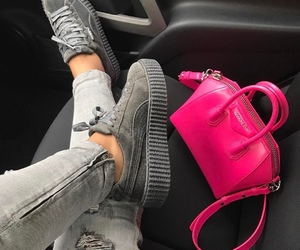 puma, bag, and pink image