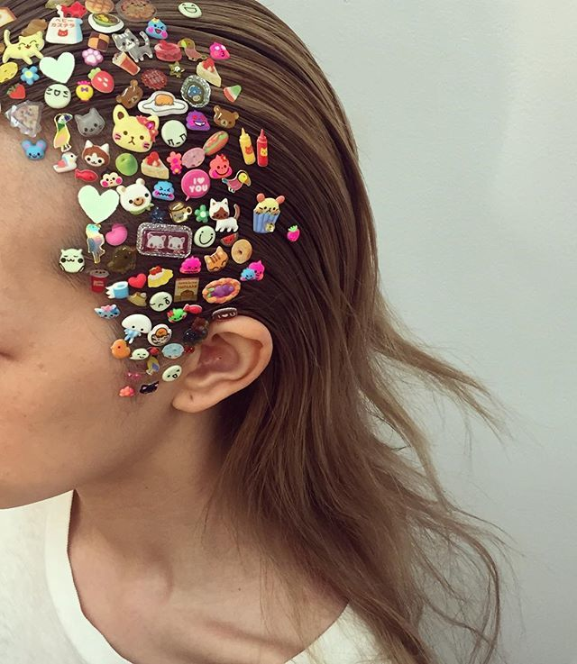 hair, teen, and stickers image