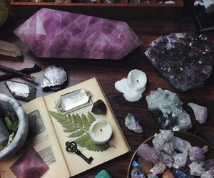 crystal, grunge, and magic image