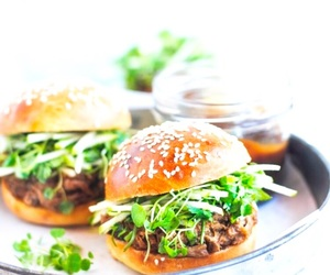 burger, food, and salad image