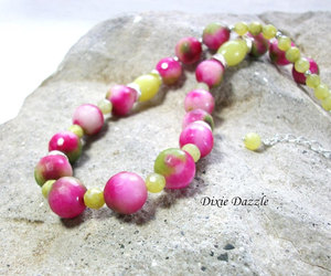 etsy, one of a kind, and green and pink image