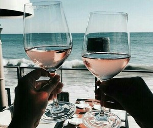 wine, summer, and beach image