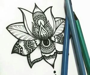 mandala, art, and draw image