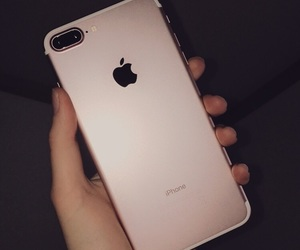 girl, iphone, and apple image