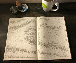 coffee, diary, and journaling image