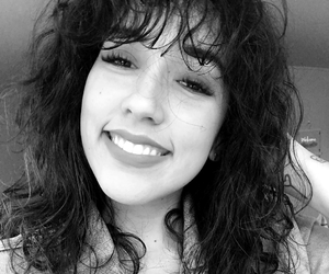 black and white, hair, and 90's vibes image