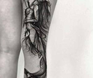 art, tattoo, and women image