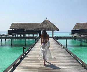 girl, Maldives, and plaia image