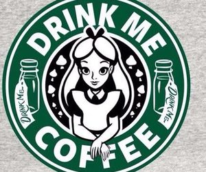 alice, alice in wonderland, and coffee image