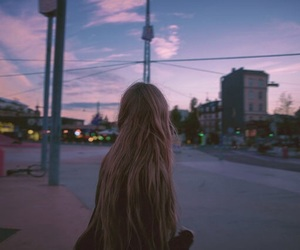 girl, sky, and grunge image