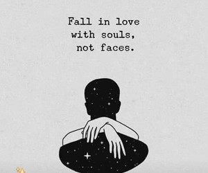 fall in love, love, and soul image