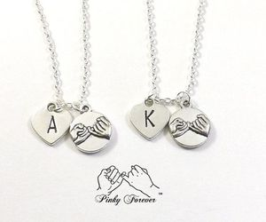 best friends, pinky swear, and couples necklace image